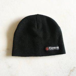 Element black toque beanie hat men or women unisex